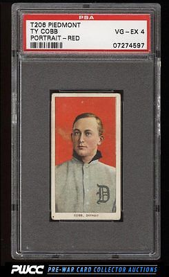 190911 T206 Ty Cobb RED PORTRAIT PSA 4 VGEX PWCC