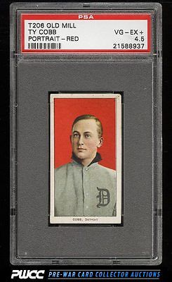 190911 T206 Ty Cobb RED PORTRAIT OLD MILL PSA 45 VGEX PWCC
