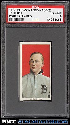 190911 T206 Ty Cobb RED PORTRAIT PSA 6 EXMT PWCC
