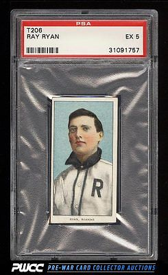 190911 T206 Ray Ryan SOUTHERN LEAGUER BROWN HINDU PSA 5 EX PWCC