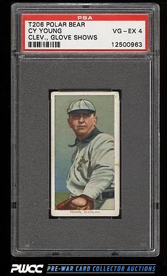 190911 T206 Cy Young CLEVELAND GLOVE SHOWS POLAR BEAR PSA 4 VGEX PWCC