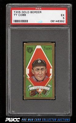 1911 T205 Gold Border Ty Cobb PSA 5 EX PWCC