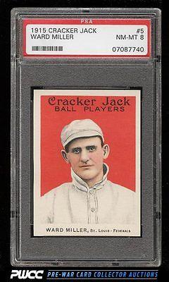 1915 Cracker Jack Ward Miller 5 PSA 8 NMMT PWCC