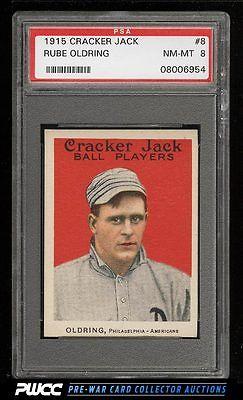 1915 Cracker Jack Rube Oldring 8 PSA 8 NMMT PWCC