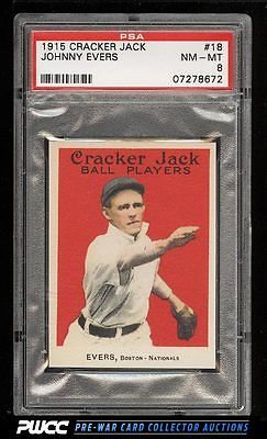 1915 Cracker Jack Johnny Evers 18 PSA 8 NMMT PWCC