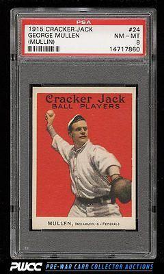 1915 Cracker Jack George Mullin 24 PSA 8 NMMT PWCC