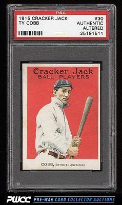 1915 Cracker Jack Ty Cobb 30 PSA AUTH Altered PWCC