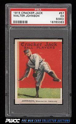 1915 Cracker Jack Walter Johnson 57 PSA 5mc EX PWCC