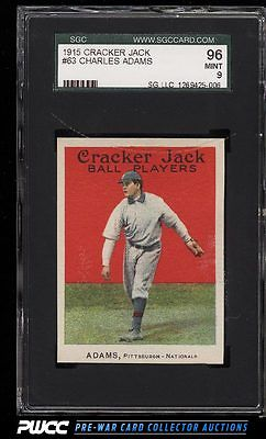 1915 Cracker Jack Charles Adams 63 SGC 996 MINT PWCC