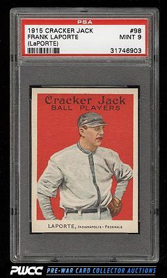 1915 Cracker Jack Frank LaPorte 98 PSA 9 MINT PWCC