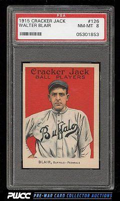 1915 Cracker Jack Walter Blair 126 PSA 8 NMMT PWCC