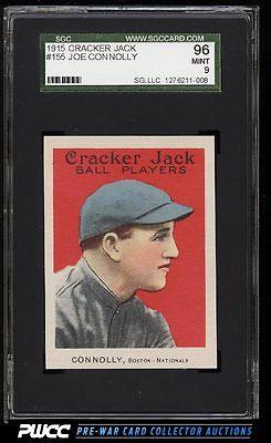 1915 Cracker Jack Joe Connolly 155 SGC 996 MINT PWCC