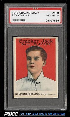 1915 Cracker Jack Ray Collins 169 PSA 8 NMMT PWCC