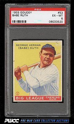 1933 Goudey Babe Ruth 53 PSA 6 EXMT PWCC