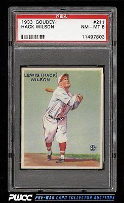 1933 Goudey Hack Wilson 211 PSA 8 NMMT PWCC