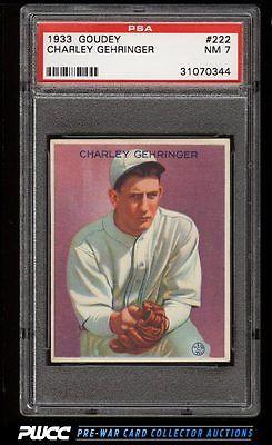 1933 Goudey Charley Gehringer 222 PSA 7 NRMT PWCC
