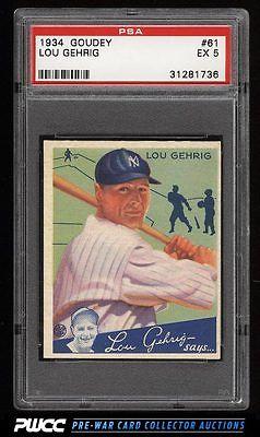 1934 Goudey Lou Gehrig 61 PSA 5 EX PWCC