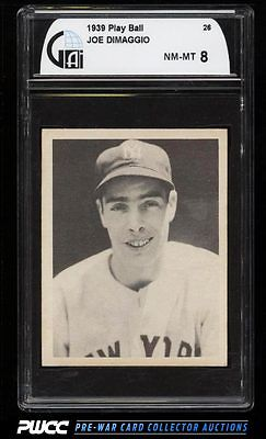 1939 Play Ball Joe DiMaggio 26 GAI 8 NMMT PWCC