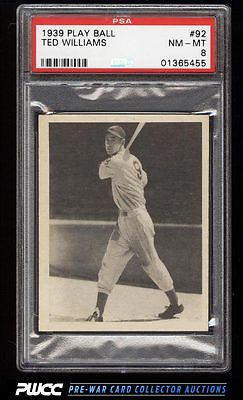 1939 Play Ball Ted Williams ROOKIE RC 92 PSA 8 NMMT PWCC