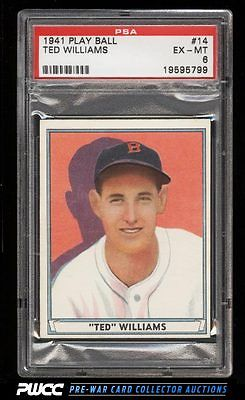 1941 Play Ball Ted Williams 14 PSA 6 EXMT PWCC