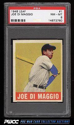 1948 Leaf Joe DiMaggio 1 PSA 8 NMMT PWCC