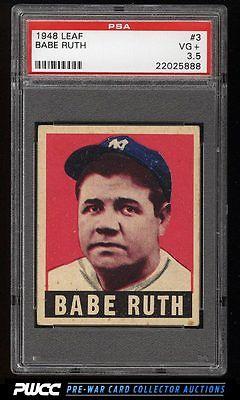 1948 Leaf Babe Ruth 3 PSA 35 VG PWCC