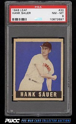 1948 Leaf Hank Sauer SP ROOKIE RC 20 PSA 8 NMMT PWCC