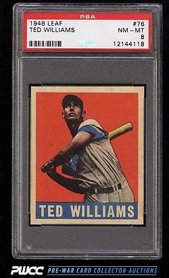 1948 Leaf Ted Williams 76 PSA 8 NMMT PWCC