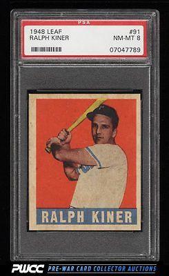 1948 Leaf Ralph Kiner ROOKIE RC 91 PSA 8 NMMT PWCC
