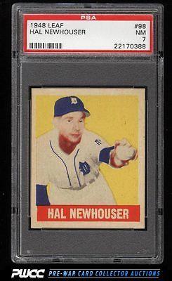 1948 Leaf Hal Newhouser SP ROOKIE RC 98 PSA 7 NRMT PWCC