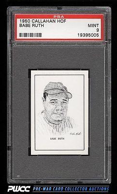 1950 Callahan Hall Of Fame Babe Ruth PSA 9 MINT PWCC