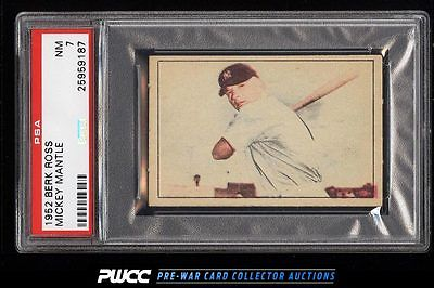 1952 Berk Ross Mickey Mantle PSA 7 NRMT PWCC