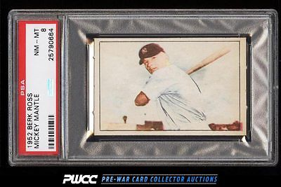 1952 Berk Ross Mickey Mantle PSA 8 NMMT PWCC