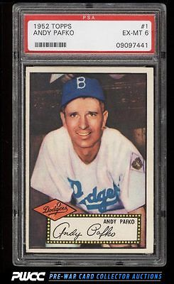 1952 Topps Andy Pafko 1 PSA 6 EXMT PWCC
