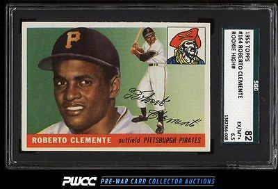 1955 Topps Roberto Clemente ROOKIE RC 164 SGC 6582 EXMT PWCC
