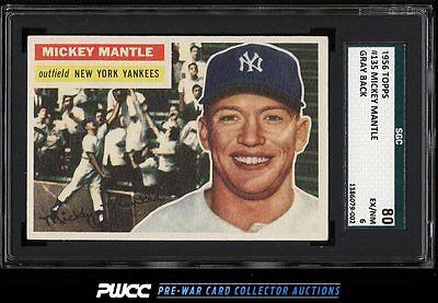 1956 Topps Mickey Mantle 135 SGC 680 EXMT PWCC