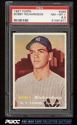 1957 Topps Bobby Richardson ROOKIE RC 286 PSA 85 NMMT PWCC
