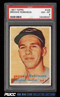 1957 Topps Brooks Robinson ROOKIE RC 328 PSA 8 NMMT PWCC
