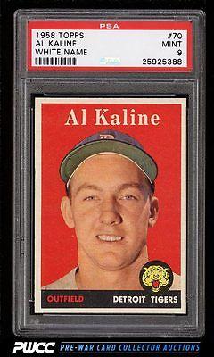 1958 Topps Al Kaline 70 PSA 9 MINT PWCC