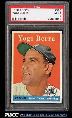 1958 Topps Yogi Berra 370 PSA 9 MINT PWCC