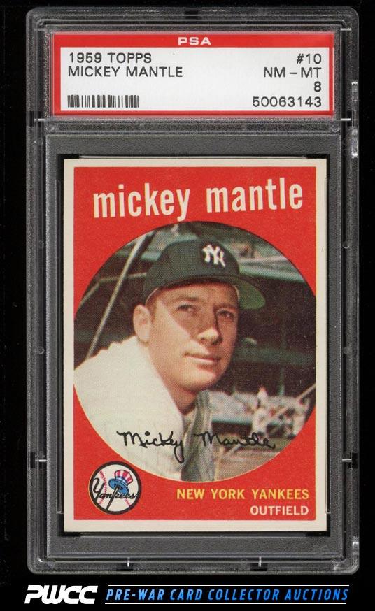 1959 Topps Mickey Mantle 10 PSA 8 NMMT PWCC