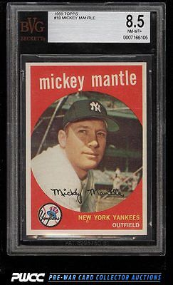 1959 Topps Mickey Mantle 10 BVG 85 NMMT PWCC
