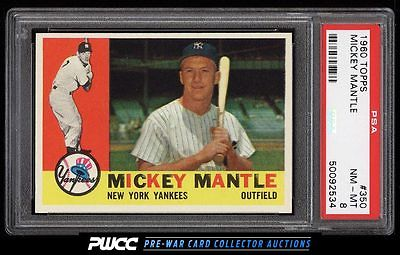 1960 Topps Mickey Mantle 350 PSA 8 NMMT PWCC