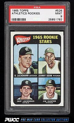1965 Topps Catfish Hunter SP ROOKIE RC 526 PSA 9 MINT PWCC