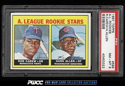 1967 Topps Rod Carew ROOKIE RC 569 PSA 8 NMMT PWCC