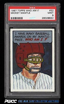 1967 Topps Who Am I Mickey Mantle 22 PSA 9 MINT PWCC