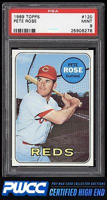 1969 Topps Pete Rose 120 PSA 9 MINT PWCCHE