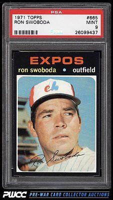 1971 Topps Ron Swoboda SHORT PRINT 665 PSA 9 MINT PWCC