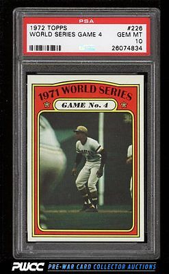 1972 Topps Roberto Clemente WORLD SERIES GAME 4 226 PSA 10 GEM MINT PWCC