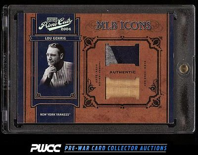 2004 Playoff Prime Cuts Lou Gehrig DUAL PATCH 44 MLB65 PWCC